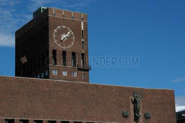 Das Rathaus von Oslo NOR.