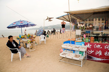 Qingdao  Strandverkaufsstand