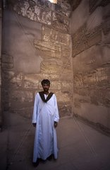 Africa  Egypt  Luxor temple Egyptian guard in the temple