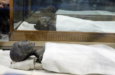 Aegypten  Kairo. Mumie im Museum