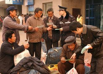 China: Migranten  Gastarbeiter zum Fruehlingsfest
