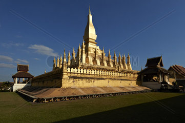 Laos  Vientiane  Pha That Luang Buddhist temple