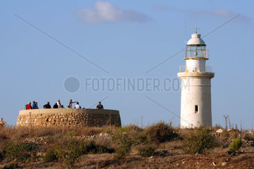 Cyprus  Paphos  the lighthouse.