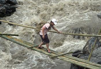 China  Ueberschwemmungen in Taiwan