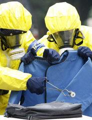 China  Uebung zur Kontrolle von radioaktivem Material