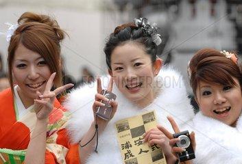 Japan  Coming of Age Day  der Eintritt in die Volljaehrigkeit