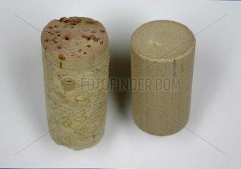 Natur und Kunststoffkorken