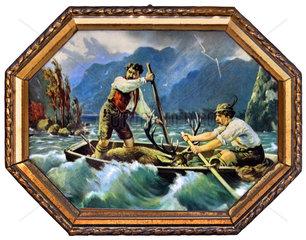 zwei Wilderer  Wandbild  1912