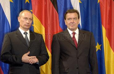 Putin + Schroeder
