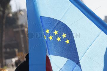 verblasste Europaeische Fahne