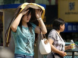 China  Ungewoehnlich heisse Temperaturen