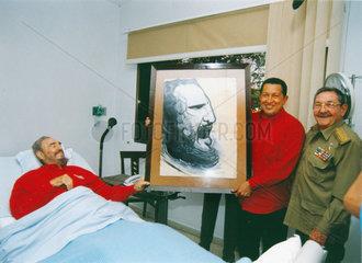 Cuba  Havanna  Fidel Castro im Krankenhaus