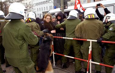 Demo gegen Arbeitslosengeld II