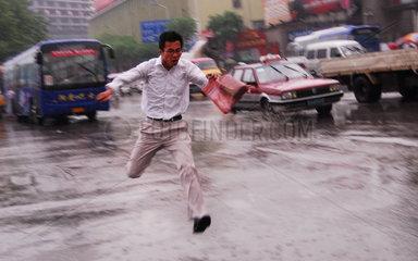 China. Regensturm