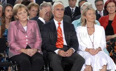 Merkel + Ehepaar Beckenbauer