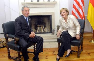 Bush + Merkel
