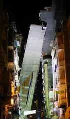 EGYPT-ALEXANDRIA-ACCIDENT-LEANING BUILDING