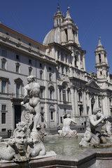 Brunnen auf dem Piazza Navona