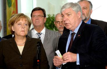 Merkel + Gewerkschafter