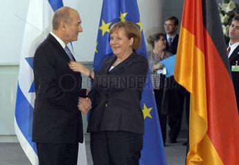 Olmert + Merkel