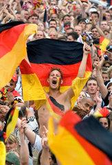 Fussballfan  Fanmeile Berlin  Fussball-WM