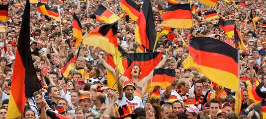 Fussballfans  Fanmeile Berlin