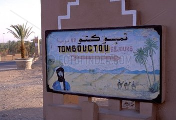 Tombouctou Sign  Morocco