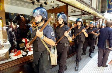 Protest im Bankenviertel