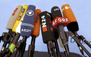 Mikrofone in der Nahaufnahme