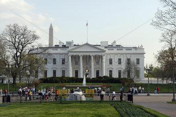 Weisses Haus  Washington D.C.. United States of America  Vereinigte Staaten von Amerika  USA