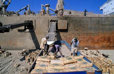 Harbour in Massawa  Eritrea