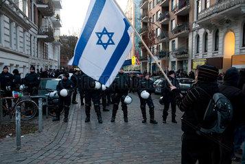 Proisraelische Demonstration anlaesslich der Vorfuehrung eines Films von Claude Lanzmann