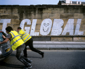 Campaign against Global Warming  Liverpool  England