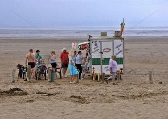 Strand bei Burnham-on-Sea  Somerset  England