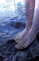 Fuesse im Eiswasser