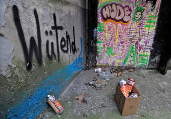 Wuetend. Graffiti im Gaengeviertel  Hamburg