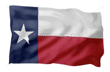 Landesfahne von Texas USA (Motiv A; mit natuerlichem Faltenwurf und realistischer Stoffstruktur)
