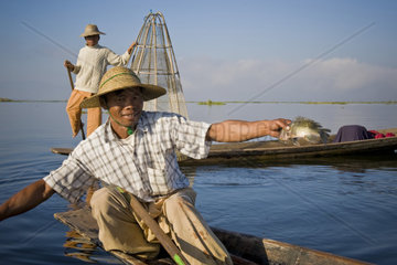 Myanmar  Inle lake  fisherman