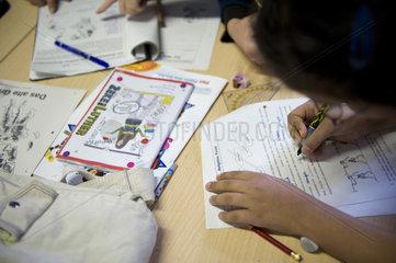 Hausaufgabenbetreuung im Medienhof Berlin-Wedding