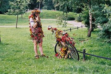 Hippie im Park