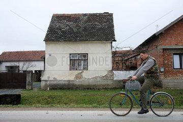 Dorfszene in Slavonien