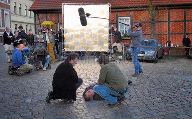 Dreharbeiten zum Fernsehfilm Gonger