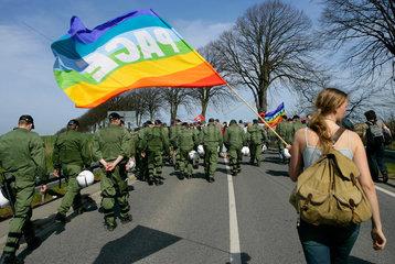 Protestmarsch gegen G8-Gipfel Heiligendamm