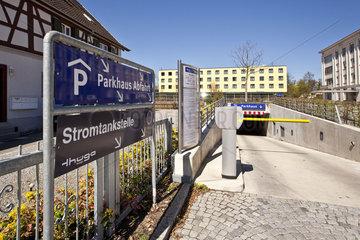 Stromtankstelle am Rathaus der Stadt Singen