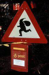 Weihnachtsmann Briefkasten