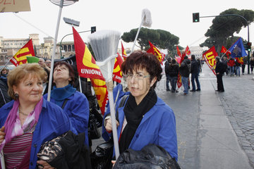 Gewerkschaft Demo in Rom