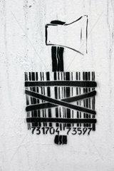 Street art zum Thema Videoueberwachung