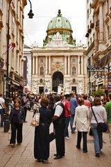 tourists of the Hofburg in Vienna  Austria  Europe