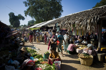 Myanmar  Bagan  local market
