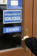 Drogeriemarktfiliale Schlecker  Eingang